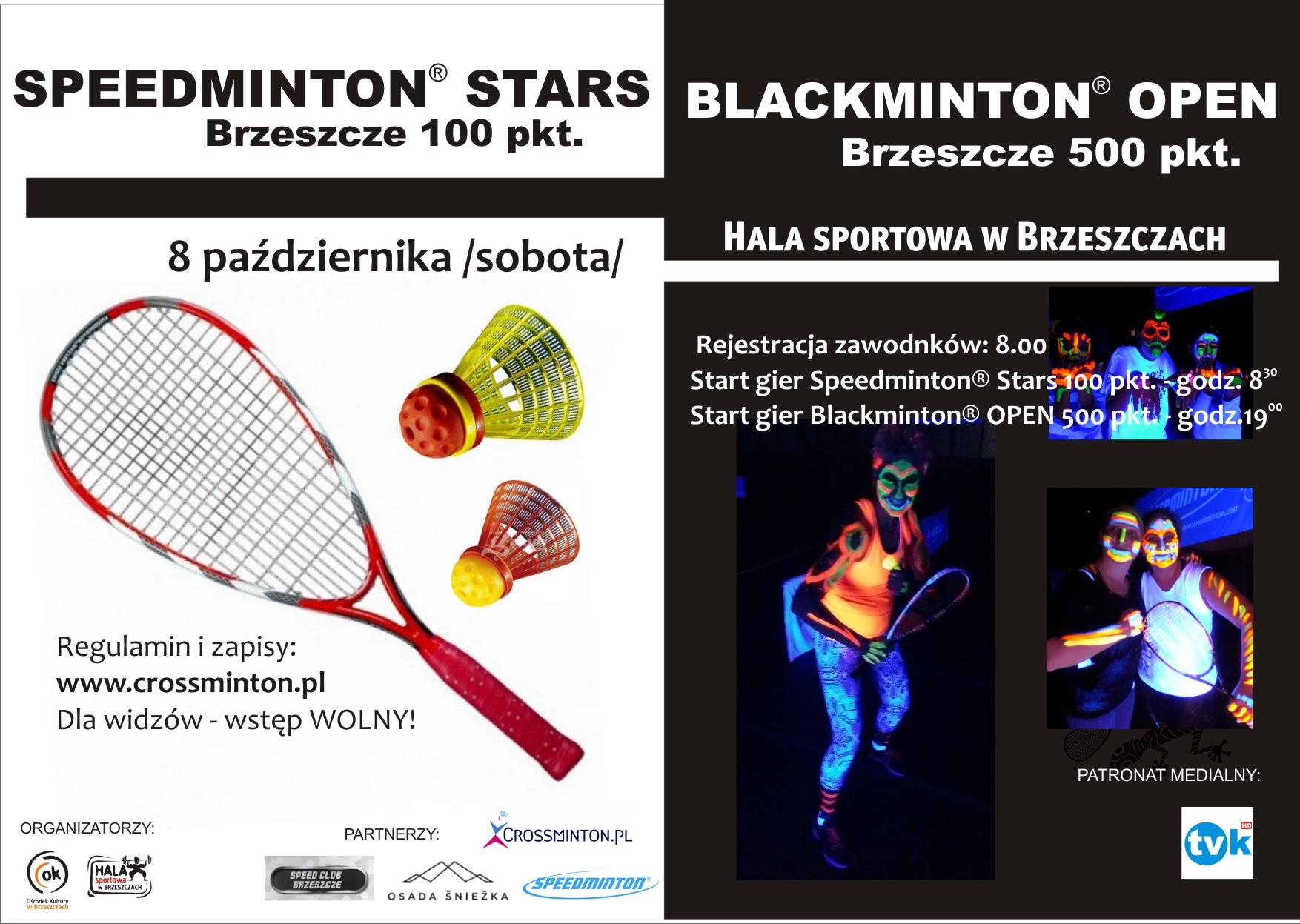 plakat speedminton-blacminton - 8 października