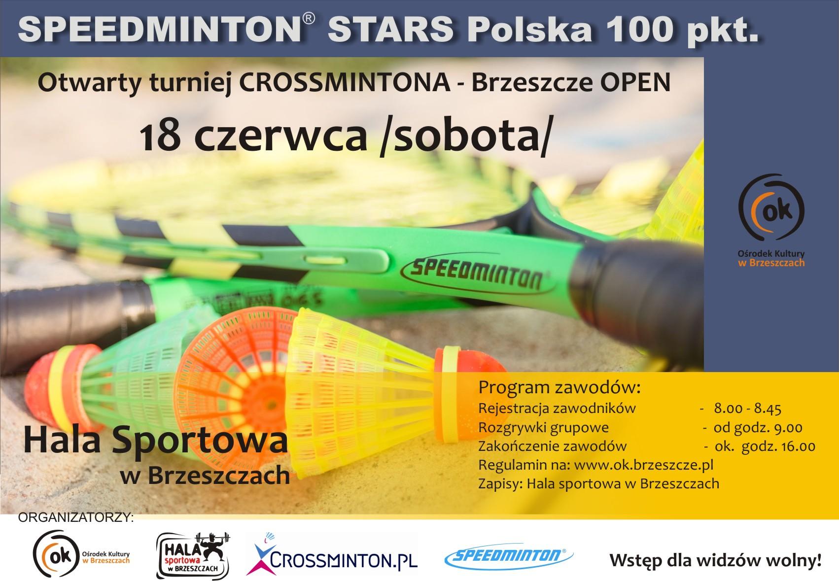 plakat Crossminton Brzeszcze open 18 czerwca